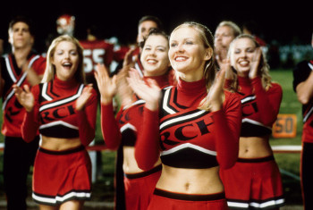 Cheerleading requires the grace of dancing and the fitness of sports