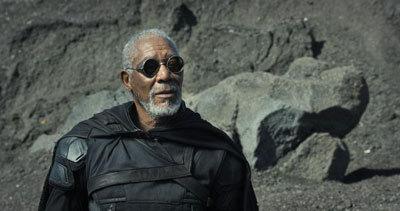 Morgan as Beech in the rebel cave