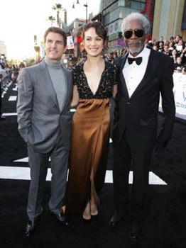 Tom, Olga and Morgan at a premiere