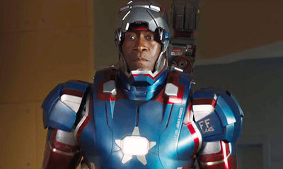 Iron Patriot peeks out