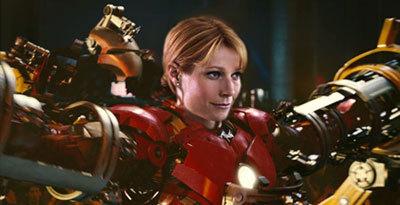 Pepper (Gwyneth) rocks the famous suit