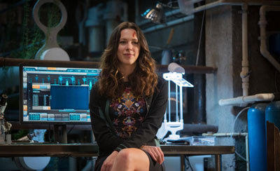 Rebecca as Maya in the lab