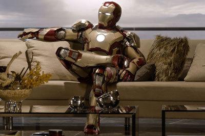 Iron Man kicks back at home