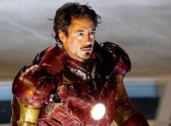 A battered Iron Man