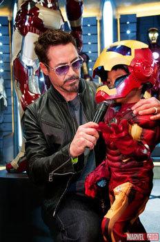 Robert interviews young Iron Man fan