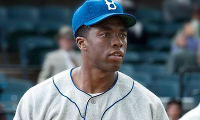 Chad as Jackie Robinson on the field