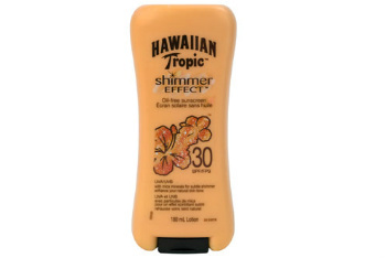Hawaiian Tropic sunscreen with shimmer