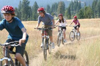 Go biking with friends
