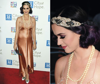 Katy Perry goes for the 1920s vintage flapper girl look!