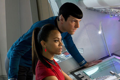 Zac as Spock with Zoe as Uhura