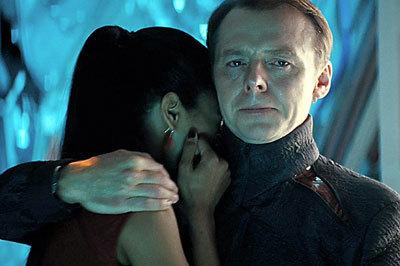 Simon as Scotty comforts Uhura