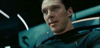Benedict as Harrison attacks the Enterprise