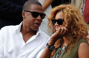 Jay-Z with superstar wife Beyonce at a tennis match