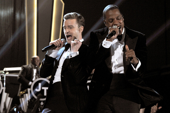 Jay-Z performs Suit and Tie with Justin Timberlake