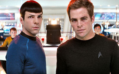 Spock and Captain Kirk