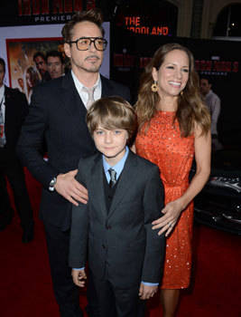 Ty Simpkins with Robert and wife at premiere