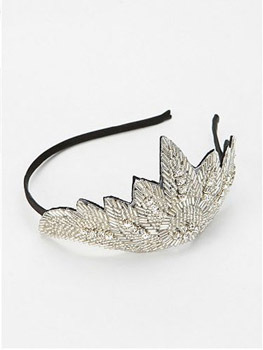 Urban Outfitters silver headband, $29
