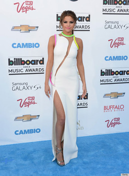 Selena Gomez goes on trend with fresh white and neon accents