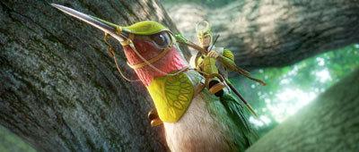Ronin (Colin Farrell) rides his hummingbird