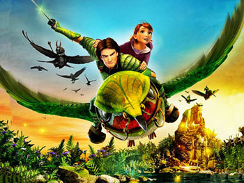 Nob (Josh Hutcherson) and MK fly into battle
