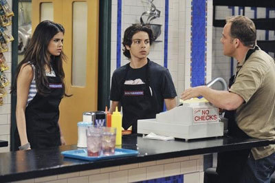 Younger Jake with Selena on Wizards