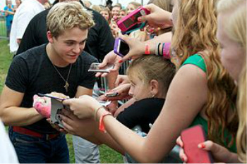 He loves his fans!