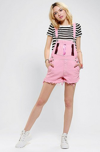 Urban Outfitters pink overalls, $79