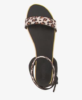 Forever 21 leopard print flat sandals, $24