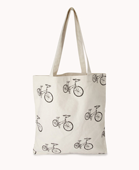 Forever 21 bicycle tote, $6