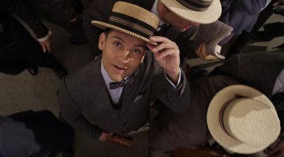 Nick (Tobey) greets Gatsby
