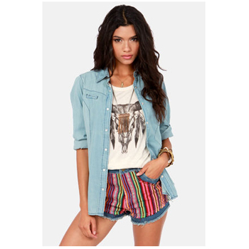 Lulu's woven shorts, $60