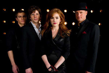 Dave Franco, Jesse Eisenberg, Isla Fisher and Woody Harrelson are The Four Horsemen