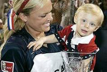 Jennie Finch and Son