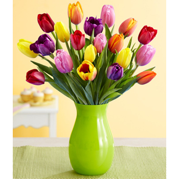 Put a smile on mom's face with some fresh tulips