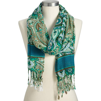 Paisley scarf, $12