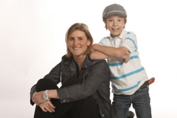 Hayley Wickenheiser and Son