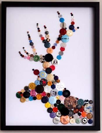 Moose button art