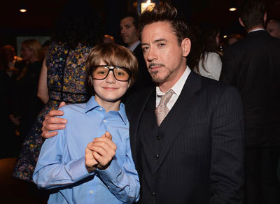 Ty with Robert at party for the film