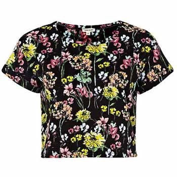 River Island cropped floral, $20