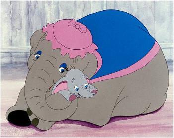 Mrs. Jumbo loves her big-eared baby