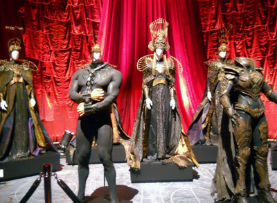 Costumes for the Krypton Ruling Council, villain Zod and his henchwoman Faora-Ul