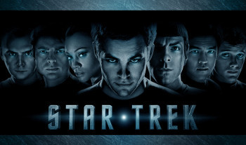 Chris Pine, Zoe Saldana and Zachary Quinto in Star Trek
