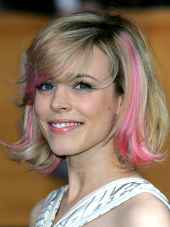Color me pastel for summer like Rachel McAdams' cool hairdo