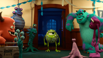 Mike and Sulley and frat brothers
