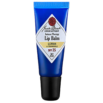 Jack Black Intense Therapy Lemon and Chamomile lip balm SPF 25 has a delicious lemony, vanilla-y scent that reminds us of cake. $7.50