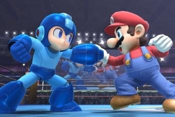 Mega Man and Mario Battle in Smash Bros.