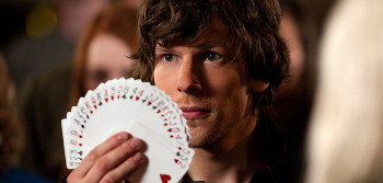 Jesse plays a card shark in Now You See Me