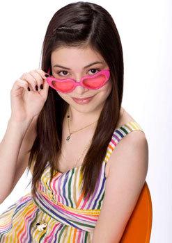 Miranda as Carly in iCarly