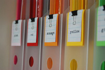 Color coding is a eye-pleasing way to organize paper