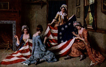 Betsy Ross and the first flag